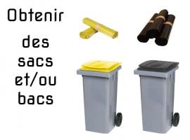 Obtenir des poubelles / sacs